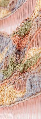 Close up of Leah Vlatko work