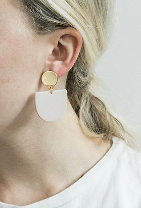 Matte Bisque Tab Earring