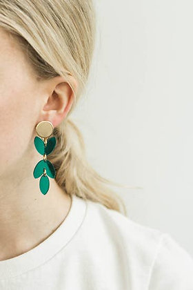 Transparent Teal Acrylic Petal Earring