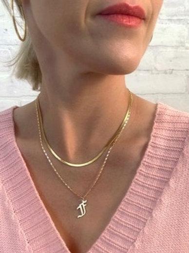 Herringbone Gold Layering Necklace