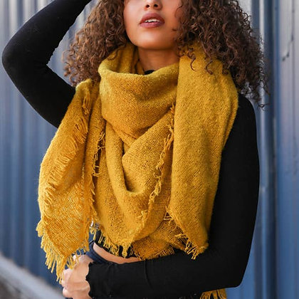 The Solid Marl Woven Scarf