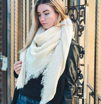 Open Weave Square Scarf