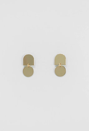 Brushed Gold Petite Earrings