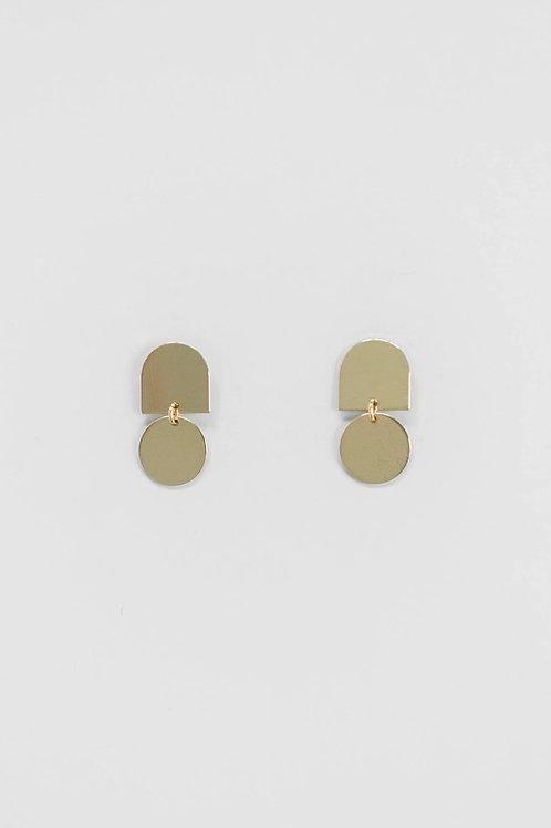 Brushed Gold Petite Earrings