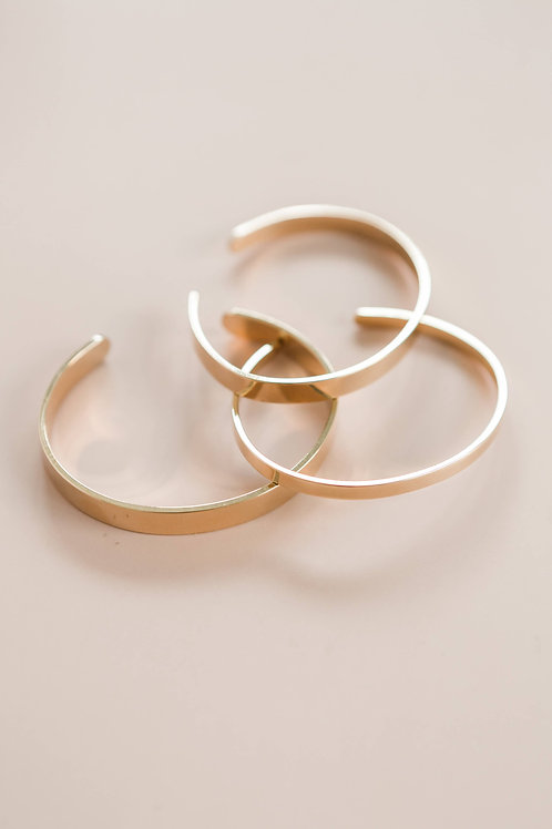 The 4mm Gold Cuffs