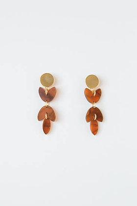 Amber Acrylic Petal Earring