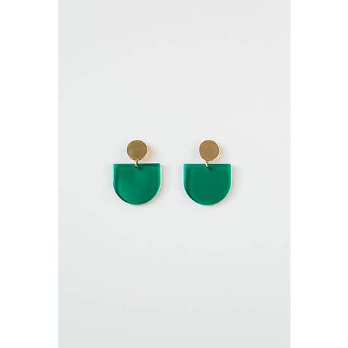 Green Transparent Acrylic Tab Earring