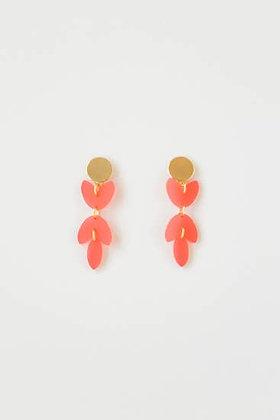 Melon Acrylic Petal Earring