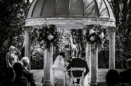 Mid-way through 'Having a coke with you' by Frank O'Hara at Smith's wedding.  Thanks Lee Dann Photography for these black and white wedding images.