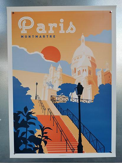 Affiche Paris montmartre