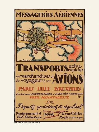 Affiche Transport Avions