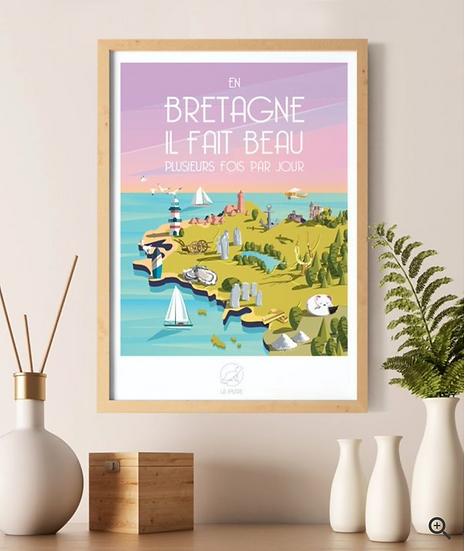Affiche Bretagne La Loutre