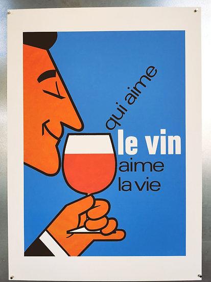 Affiche qui aime le vin