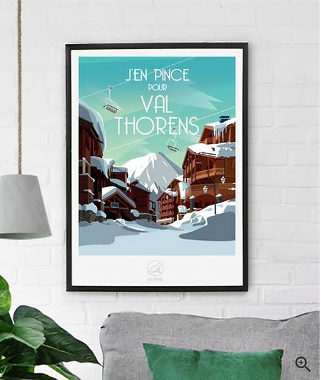 Affiche Val Thorens La Loutre