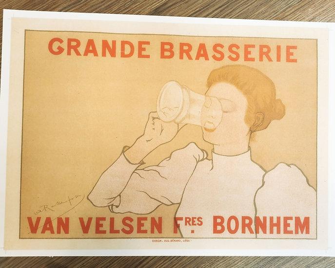 Affiche bière maître de l'affiche