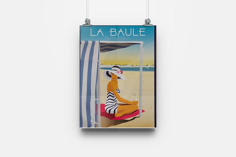 Affiche La Baule plage