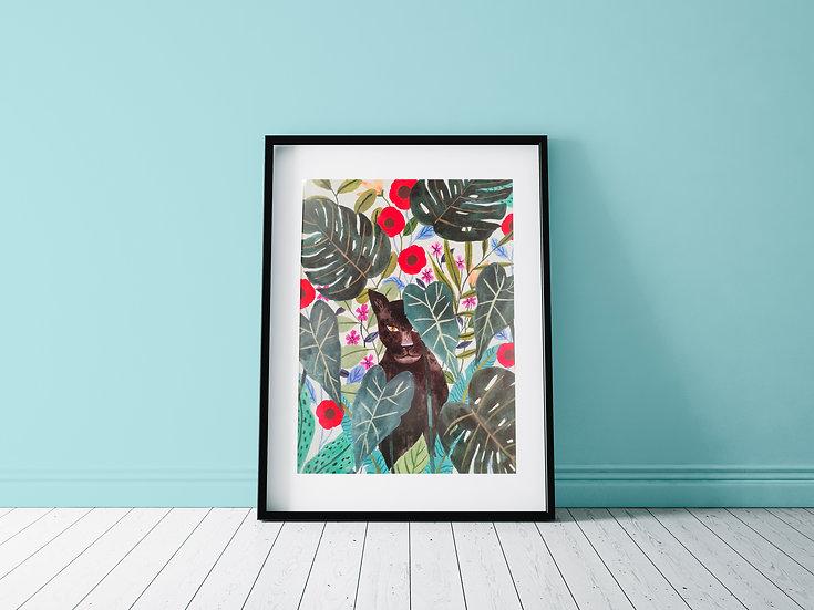 Affiche Puma jungle