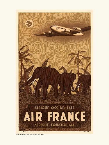 Affiche Afrique occidentale / équatoriale