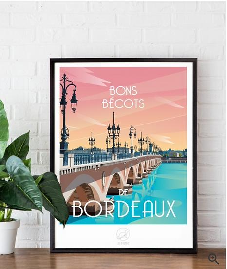 Affiche Bordeaux La Loutre