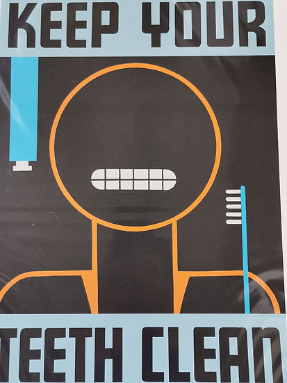 Affiche 50x70 cm keep your teeth clean