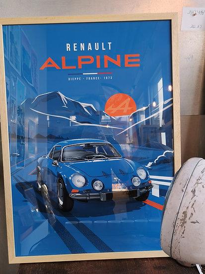 Affiche alpine Renault 50x70