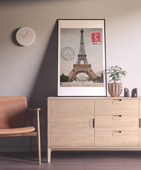 Affiche tour eiffel Paris Carte Postale