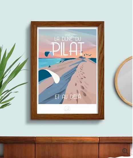 Affiche La Dune du Pilat La Loutre