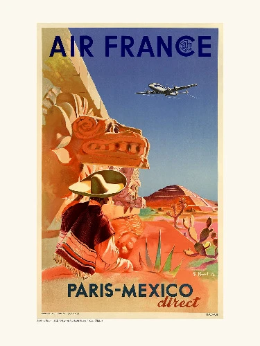 Affiche Paris - Mexico