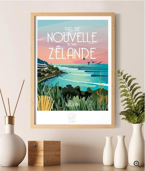 Affiche Nouvelle Zélande La Loutre