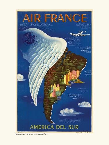 Affiche Amerique du sud