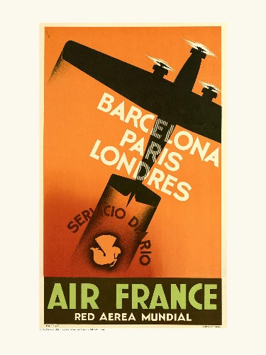 Affiche Barcelone Paris Londres