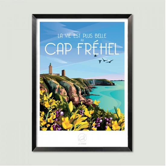 Affiche Cap Fréhel La Loutre