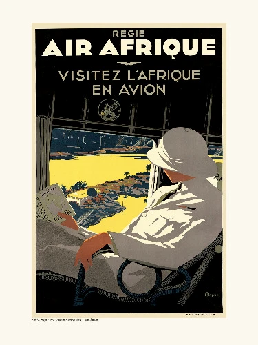 Affiche Afrique avion