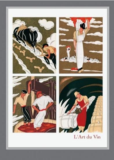 Affiche l'art du vin