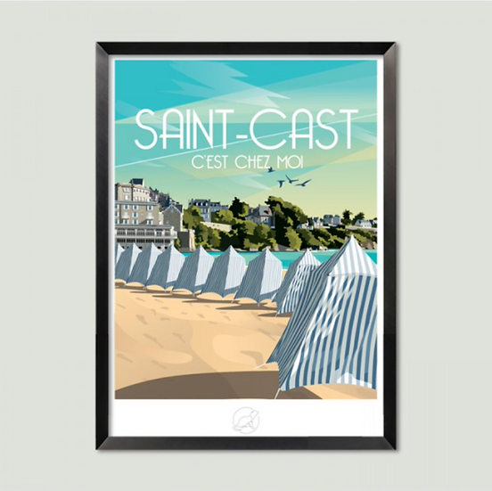 Affiche Saint-Cast La Loutre