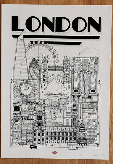 Affiche London docteur paper