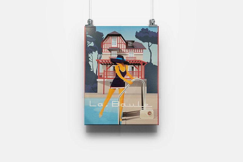 Affiche La Baule villa