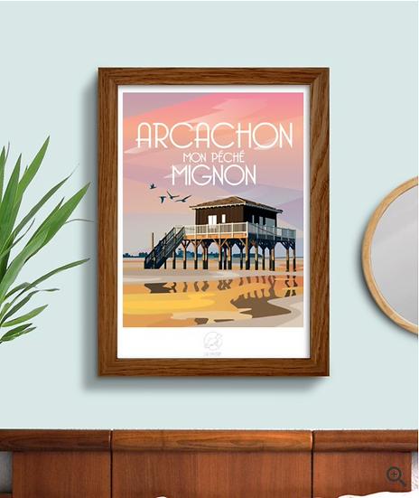 Affiche Arcachon La Loutre
