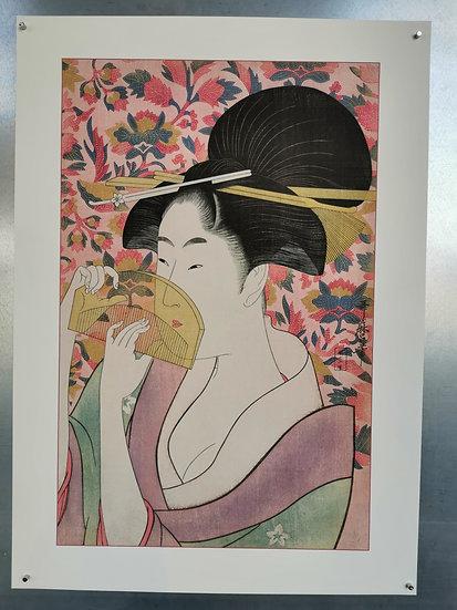 Affiche la geisha au peigne