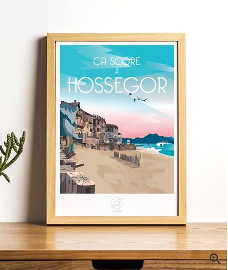 Affiche Hossegor La Loutre