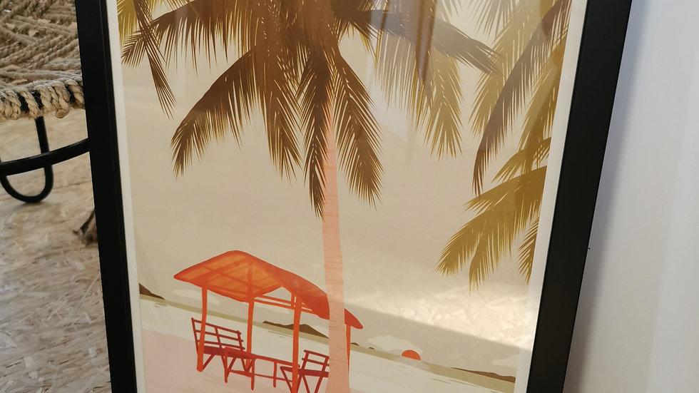 Affiche la plage