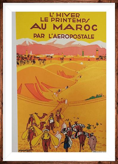 Affiche Maroc 50x70