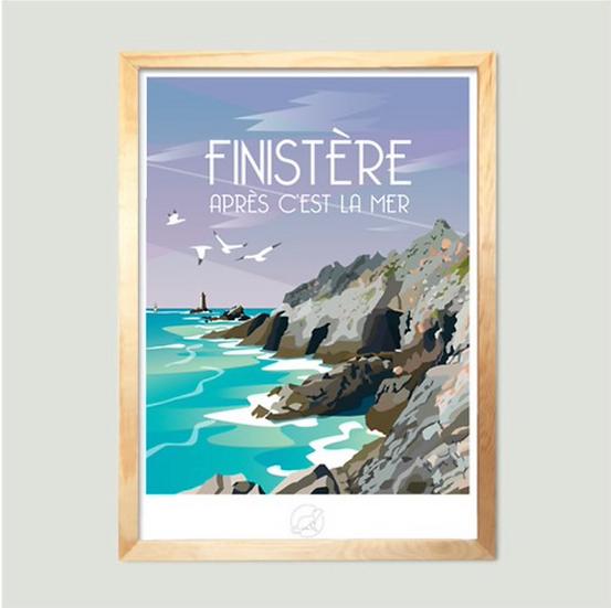 Affiche Finistère La Loutre