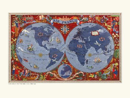 Affiche planisphère