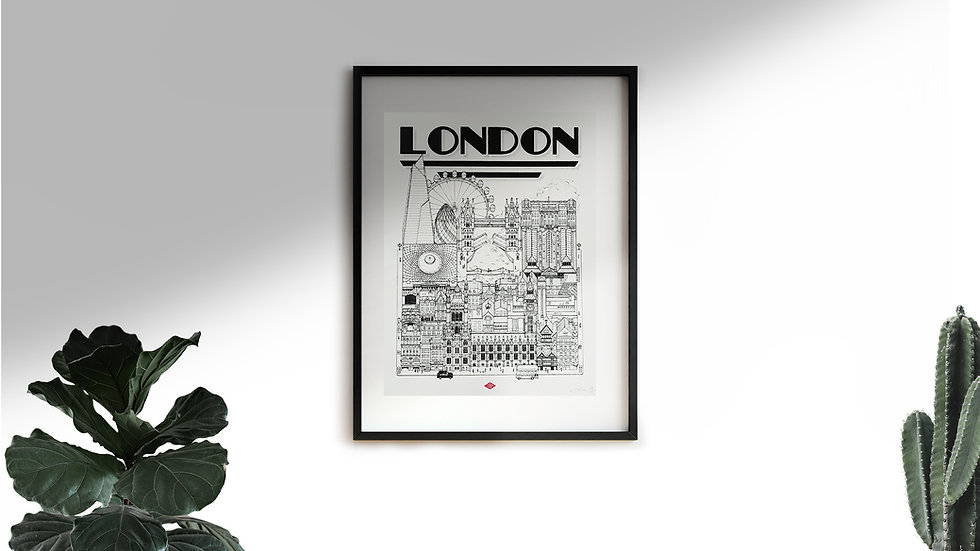Affiche London Docteur Paper