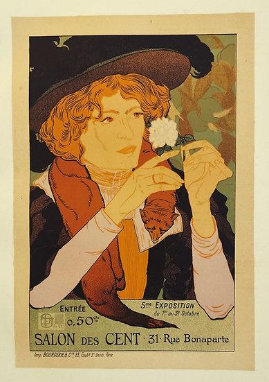 Affiche femme à la fleur