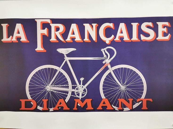 Affiche vélo la française