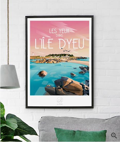 Affiche L'Île d'Yeu La Loutre