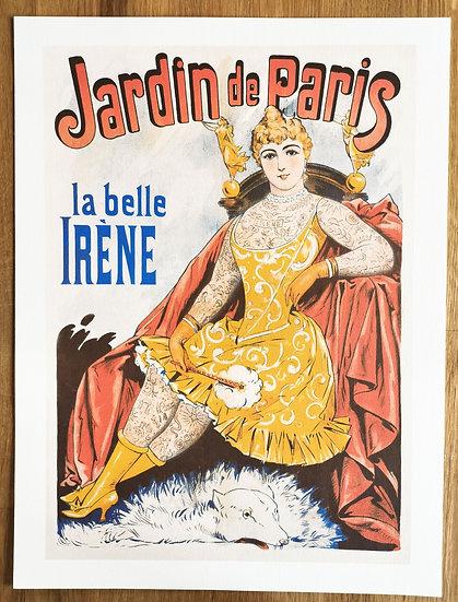 Affiche jardin de Paris