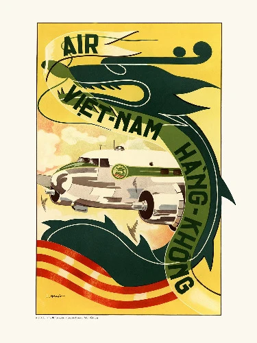 Affiche air France Vietnam Hong Kong